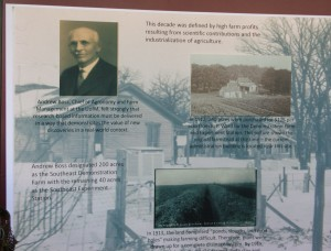 This display highlighted the rich history of the Southern Research and Outreach Center.