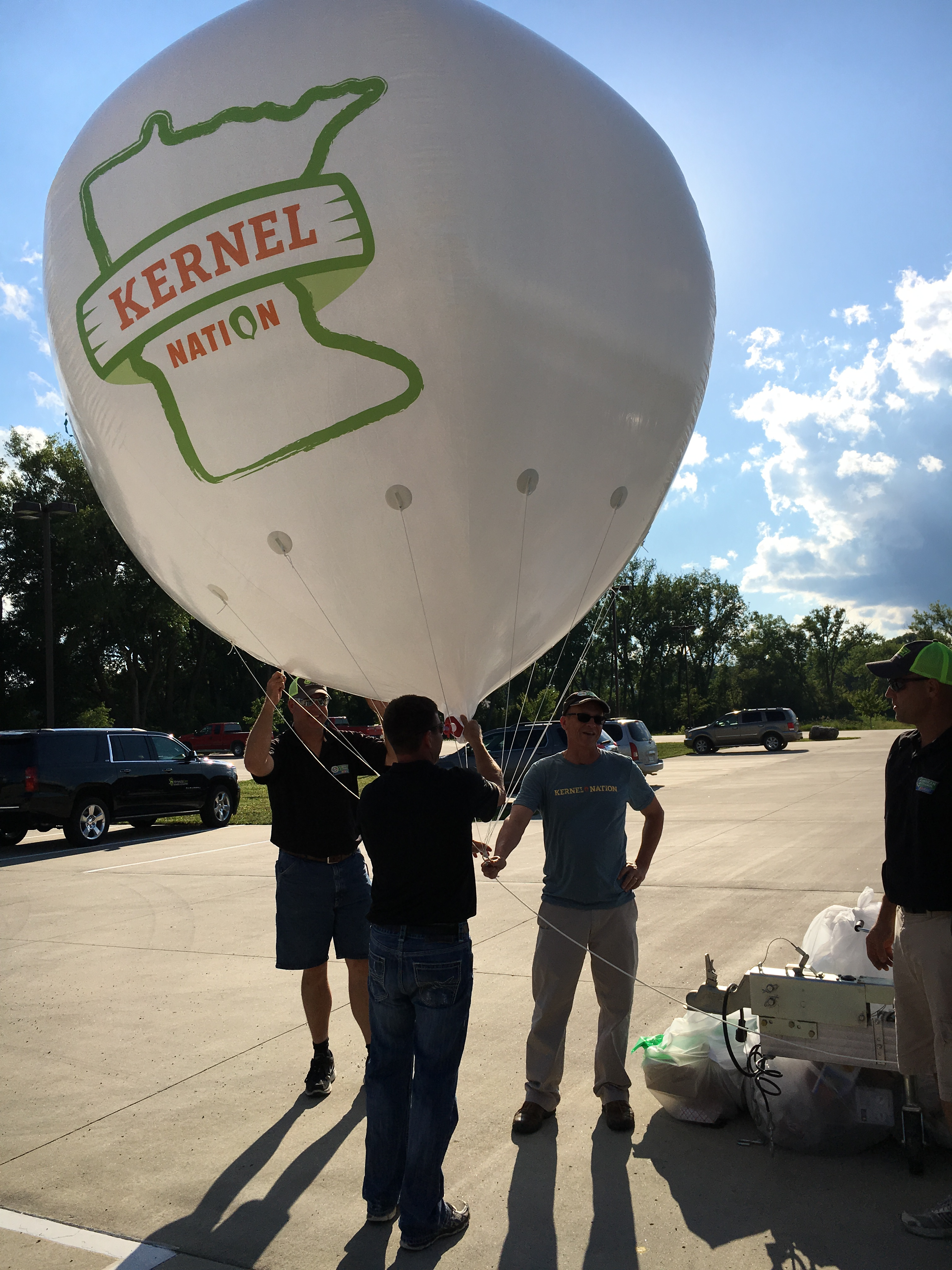 Kernel Nation had its own blimp. Yes, a blimp!