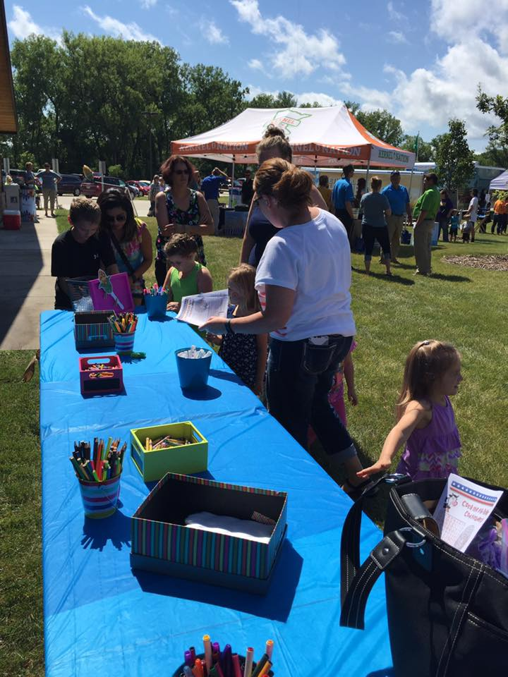 Face-painting is one of the many fun things for kids to do at Kernel Nation.