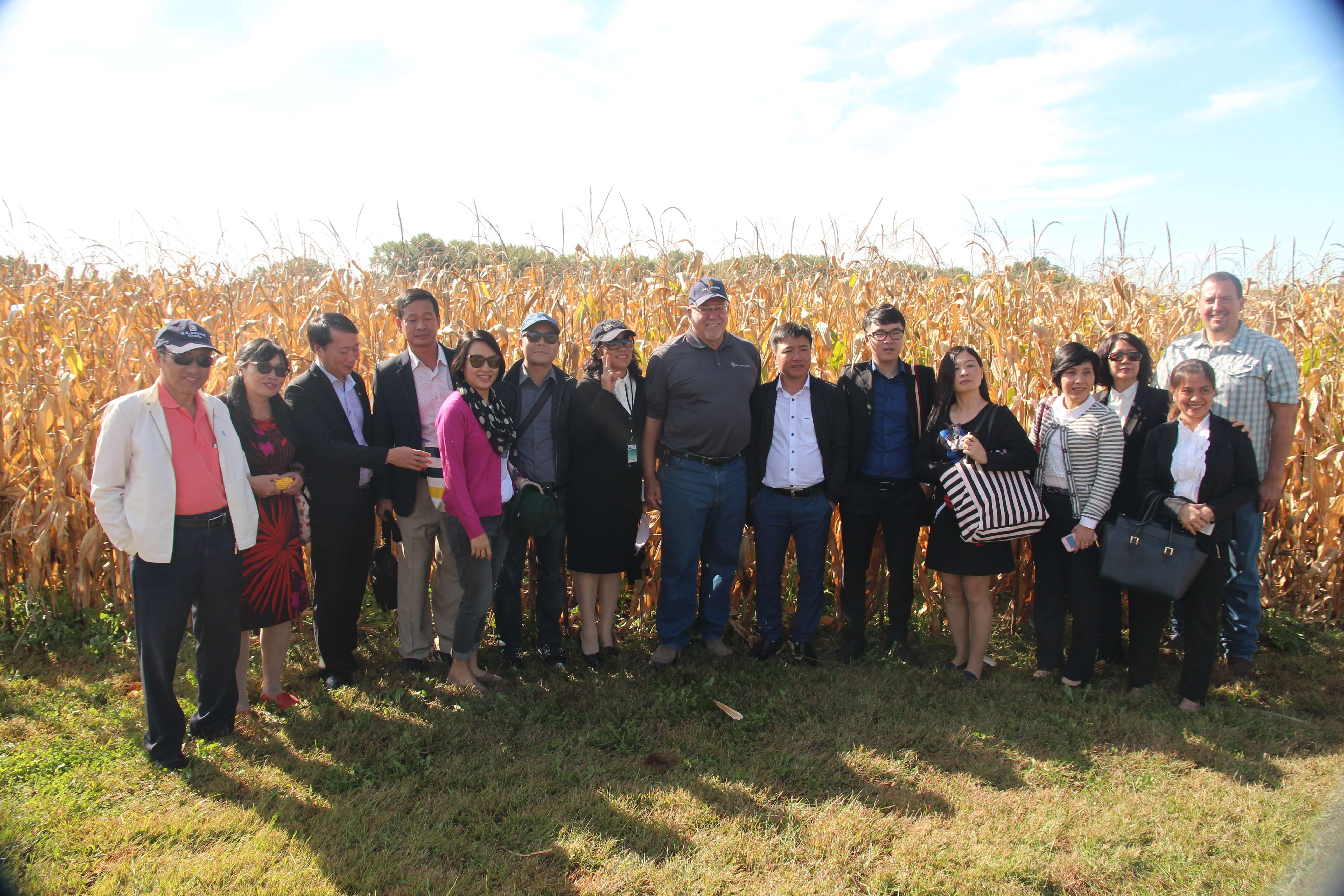 Harold Wolle provides a tour to a U.S. Grain Council trade team